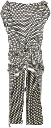 Rosetta Getty Cutout Knotted Jacquard-knit Top
