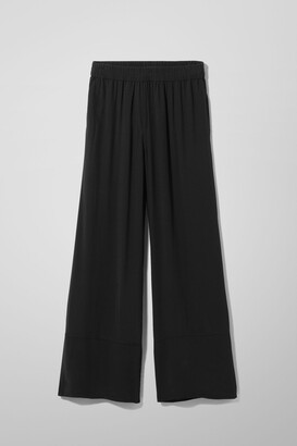Weekday Solanda Trousers - Black