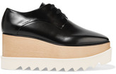 Stella McCartney Faux Leather Platform Brogues - Black