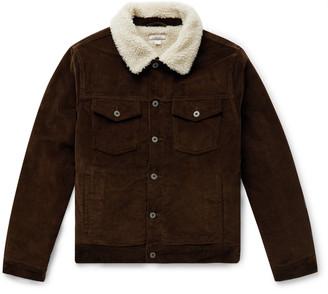 J.Crew Wallace & Barnes Fleece-Lined Cotton-Corduroy Trucker Jacket
