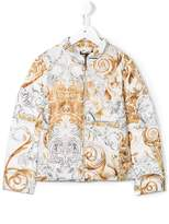 Roberto Cavalli baroque print padded jacket