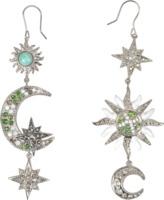 Roberto Cavalli Sun & Moon asymmetrical earrings