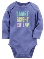 Carter's Long Sleeved Onesie With Smart Bright Cute Graphic