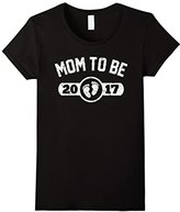 Women's Mom To Be 2017 Shirt: Gift For New Mommy Est. 2017 T-Shirt