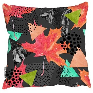 "Lee Andrew Cotton Geometric Throw Pillow Andrew Size: 18"" H x 18"" W"