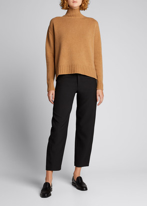 Majestic Filatures Mock-Neck Oversized Wool-Cashmere Sweater