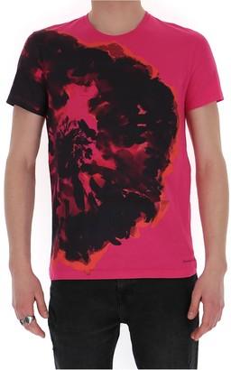 Alexander McQueen Ink Flower Print T-Shirt