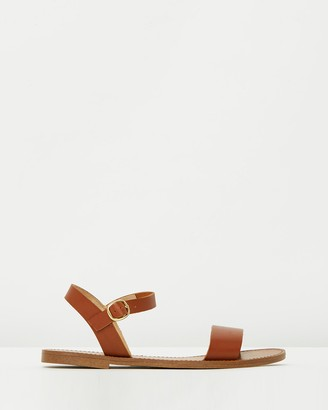 Windsor Smith Women's Brown Flat Sandals - Bondi - Size 5 at The Iconic