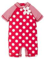 Little Me Baby Girl's Big Dot Rashguard Suit