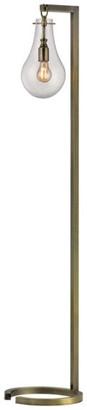 """Dimond Lighting 60"""" Metal Floor Lamp, Antique Brass"""