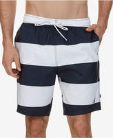 "Nautica Men's Quick-Dry Striped 8"" Board Shorts"