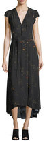 AG Jeans Daphne V-Neck Floral-Print Midi Dress