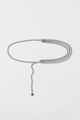 H&M Chain Belt - Silver