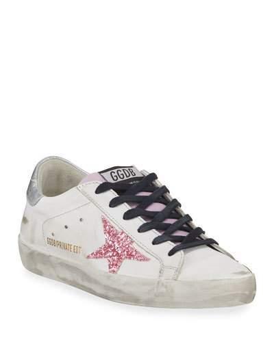 Golden Goose Superstar Glitter Platform Sneakers