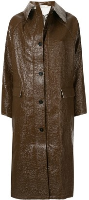 Kassl Editions Double-Faced Lacquer Long Coat
