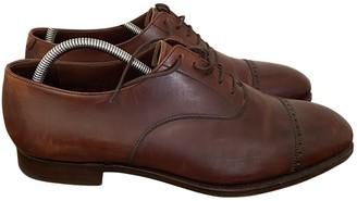 Crockett Jones Crockett& Jones Brown Patent leather Lace ups