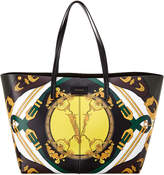 Versace Barocco Print Leather Tote