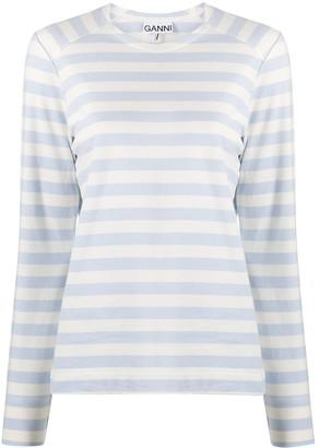 Ganni striped long-sleeve T-shirt