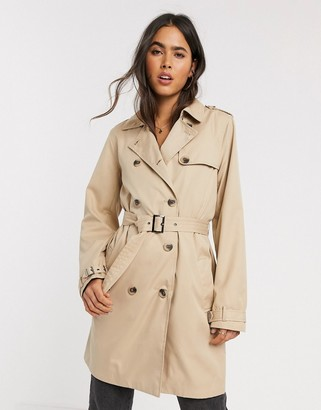 Vila trench coat in beige