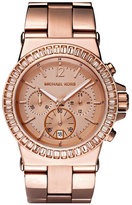 MICHAEL Michael Kors Michael Kors 'Dylan' Crystal Bezel Chronograph Watch, 43mm