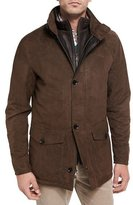 Peter Millar Steamboat Leather & Suede Coat, Branch