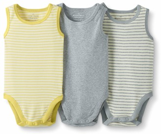 Moon and Back by Hanna Andersson Baby 3-Pack Organic Cotton Sleeveless Bodysuit