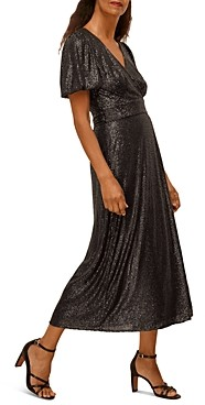 Whistles Sequin Wrap Dress