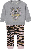 Kenzo Tiger print sweatshirt and tracksuit bottoms 3-36 months