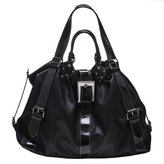 Angie & Lola Buckle Hobo Bag - Black
