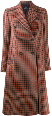 Paul Smith double breasted houndstooth coat