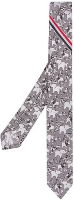 Thom Browne Animal Pattern Tie