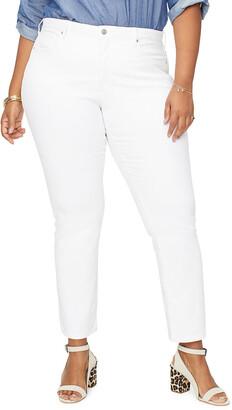 NYDJ Plus Plus Size Sheri Slim Straight Ankle Jeans