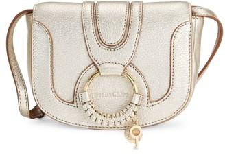 See by Chloe Mini Hana Metallic Leather Saddle Bag