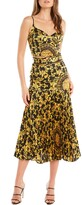 Bardot Scarf Print Pleat Midi Skirt