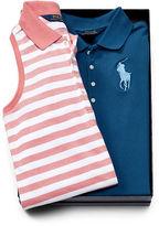 Ralph Lauren 7-16 Polo Dress 2-Piece Gift Set