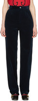 Gucci Blue Corduroy Trousers