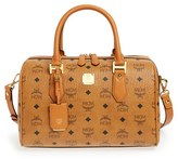 MCM 'Medium Heritage Boston' Coated Canvas Satchel - Brown