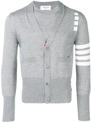 Thom Browne 4-bar 2-in-1 Merino Pullover Vest