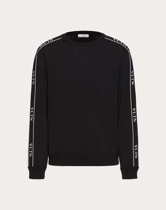 Valentino Viscose Vltn Crew-neck Sweater Man Black Viscose 75% XS