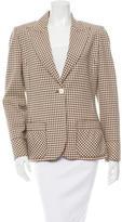 Valentino Checkered Wool Blazer