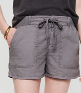 LOFT Petite Lou & Grey Poplin Shorts