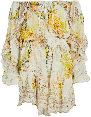 Camilla Floral Off-The-Shoulder Mini Dress