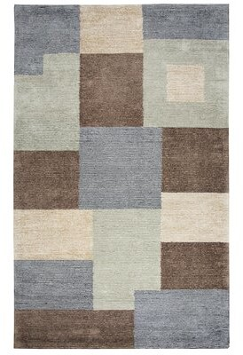 Hogan Red Barrel Studio Hand-Tufted Wool Gray/Green Area Rug Red Barrel Studio Rug Size: Rectangle 2' x 3'