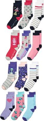 Spotted Zebra Kids' 12-Pack Crew Socks