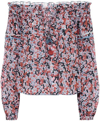 Poupette St Barth Exclusive to Mytheresa Clara floral cotton blouse