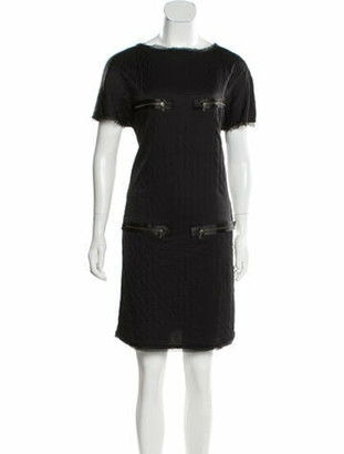 Lanvin Distressed Mini Dress Black