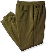 Southpole Men's Big and Tall Jogger Pants with Moto Biker Details on Knees