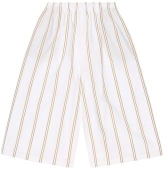 BRUNELLO CUCINELLI KIDS Striped cotton culottes