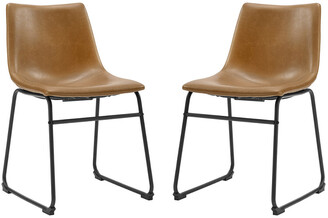 Hewson Set Of 2 Faux Leather Dining Kitchen Chairs