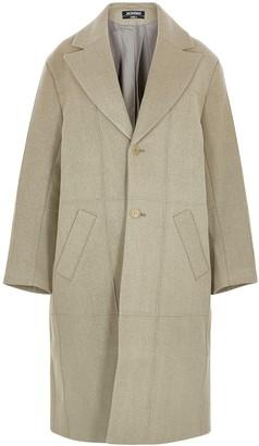 Jacquemus Le Manteau Carro Panelled Wool-blend Coat